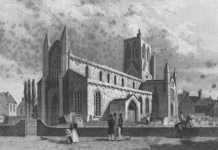 Associate Product LINCS. Great Grimsby Church. Saunders 1836 old antique vintage print picture