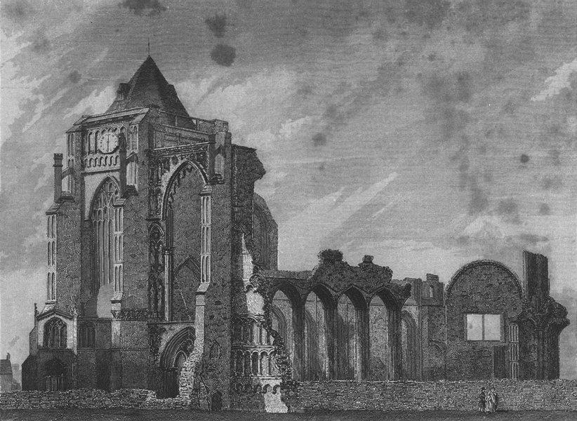 Associate Product LINCS. Crowland Abbey. Saunders ruins 1836 old antique vintage print picture
