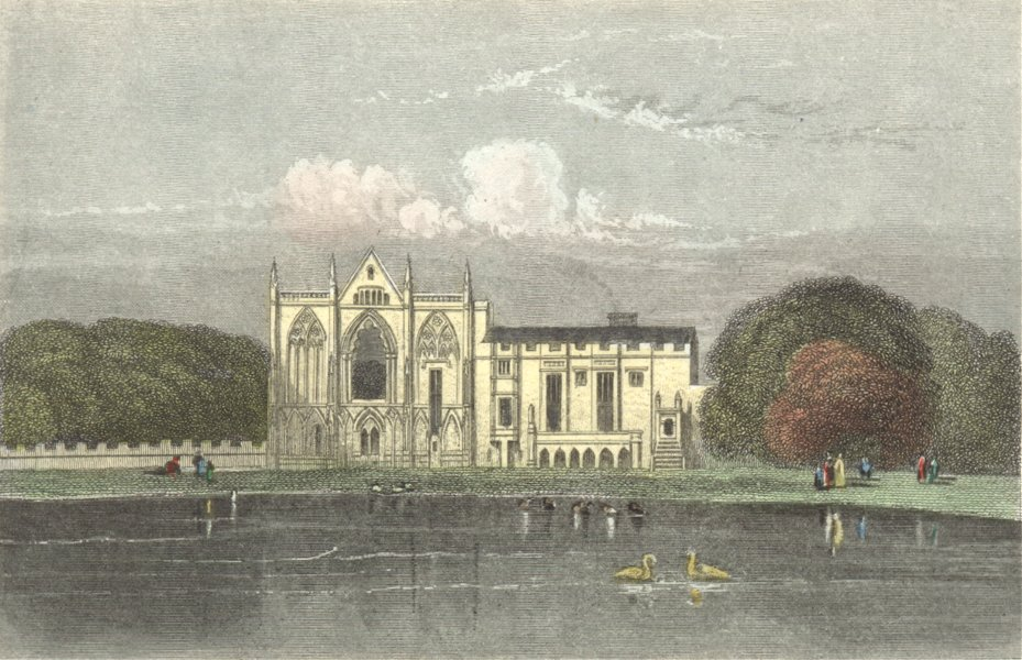 Associate Product NEWSTEAD ABBEY. ex House of Lord Byron. DUGDALE c1840 old antique print