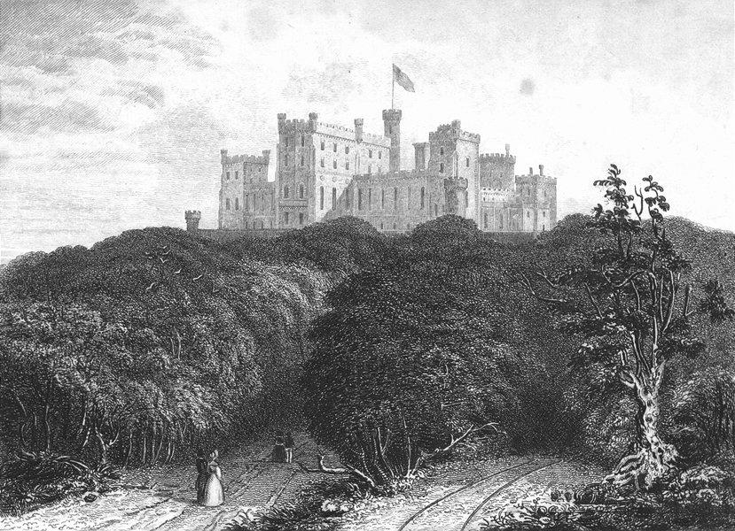 Associate Product LEICS. Belvoir Castle. Saunders Woodlands 1836 old antique print picture