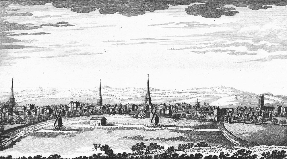 Associate Product LEICS. South Leicester. Ryland 1764 old antique vintage print picture