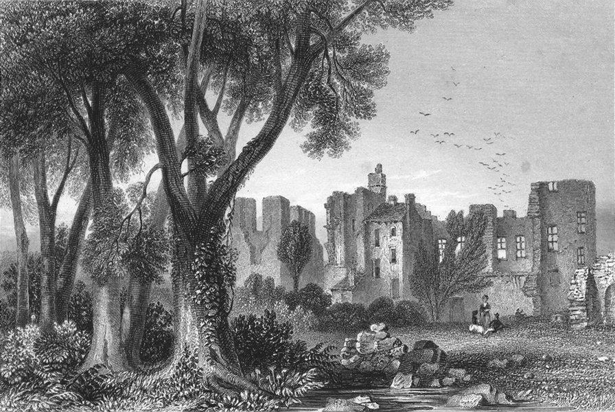Associate Product LEICS. Leicester Abbey. Sargent 1846 old antique vintage print picture
