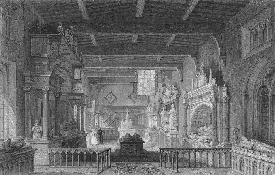 Associate Product RUTLAND. Monuments earl Bottesford Church, Leics 1836 old antique print
