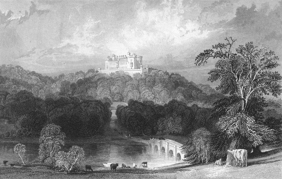 Associate Product BELVOIR CASTLE. Leicestershire. Allom cows bridge 1836 old antique print