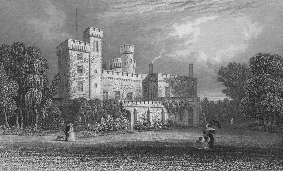 Associate Product ISLE OF WIGHT. East Cowes Castle, Barwell c1840 old antique print picture