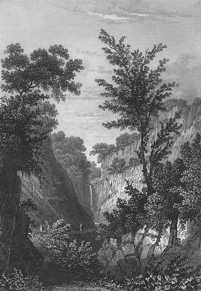 Associate Product IOW. Head of Shanklin Chine c1840 old antique vintage print picture
