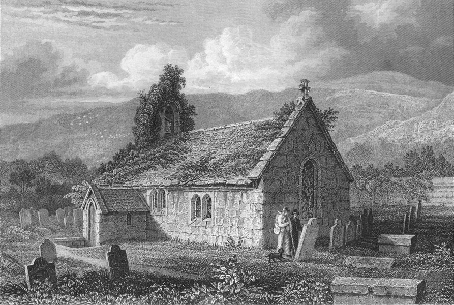 CANADA. St Lawrence Church c1840 old antique vintage print picture
