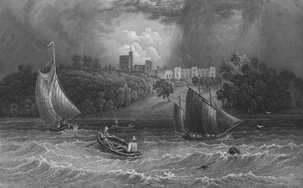 Associate Product IOW. Norris Castle Lord George Seymour-Bartlett c1840 old antique print