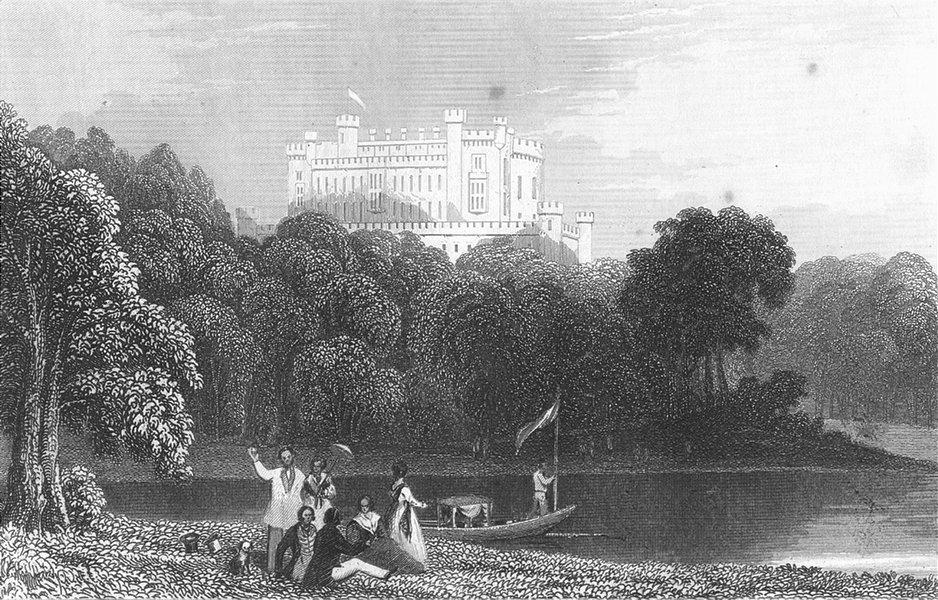 Associate Product LEICS. Belvoir Castle, Leicestershire. DUGDALE c1840 old antique print picture
