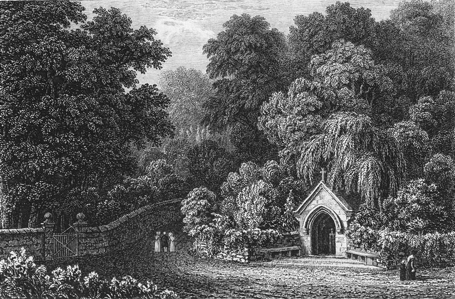 Associate Product IOW. St Lawrence. well Marine Villa Lord Yarborough 1839 old antique print