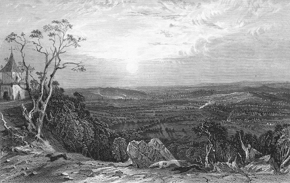 Associate Product LEICS. Bardon Hill, Leicestershire. Allom 1836 old antique print picture