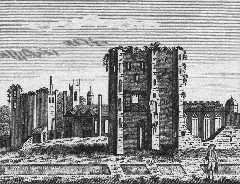Associate Product ASHBY. Ashby Zouch Castle, Leics. Jones 1829 old antique vintage print picture