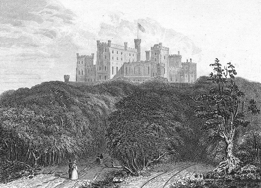 Associate Product LEICS. Belvoir Castle. Jones 1836 old antique vintage print picture