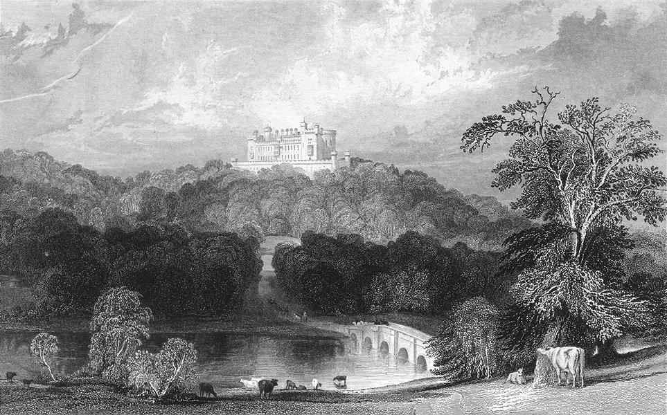 LEICS. Belvoir Castle, Leicestershire. Jones c1840 old antique print picture