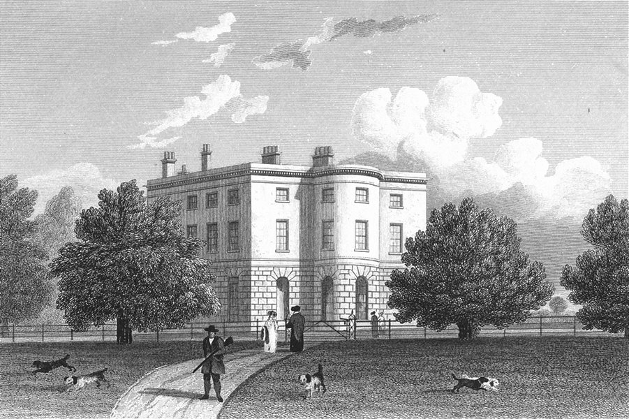 LEICS. Whatton House, Leicestershire. Jones 1826 old antique print picture