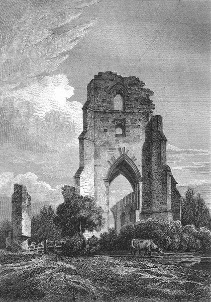 Associate Product LEICS. Ulverscroft Priory, Leicestershire. Jones 1811 old antique print