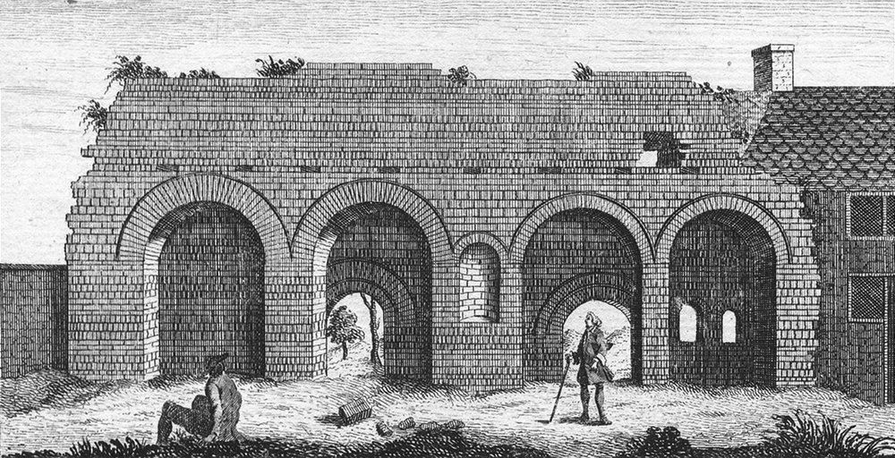 Associate Product LEICS. Roman building Temple of Janus, Leicester 1829 old antique print