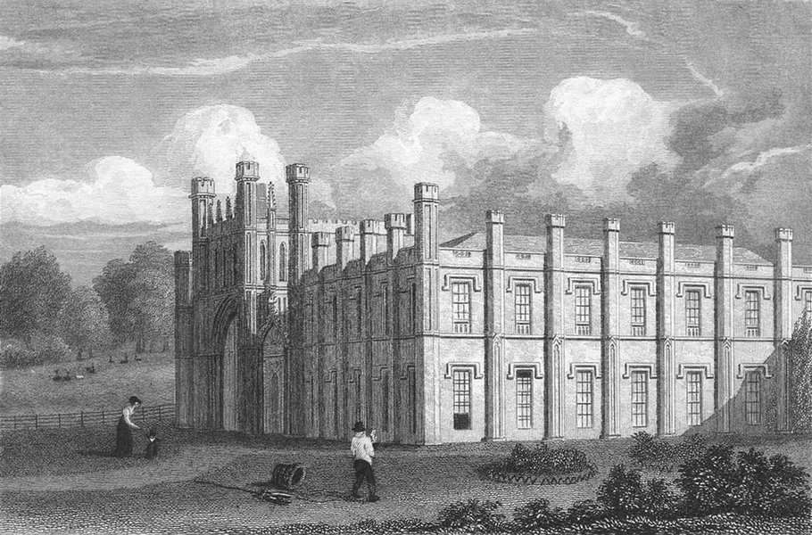 Associate Product LEICS. Donnington Hall, Leicestershire. Jones 1829 old antique print picture