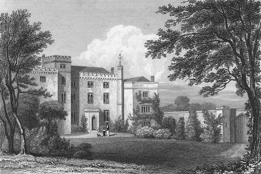 Associate Product LEICS. Langton Hall, Leicestershire. Jones 1829 old antique print picture