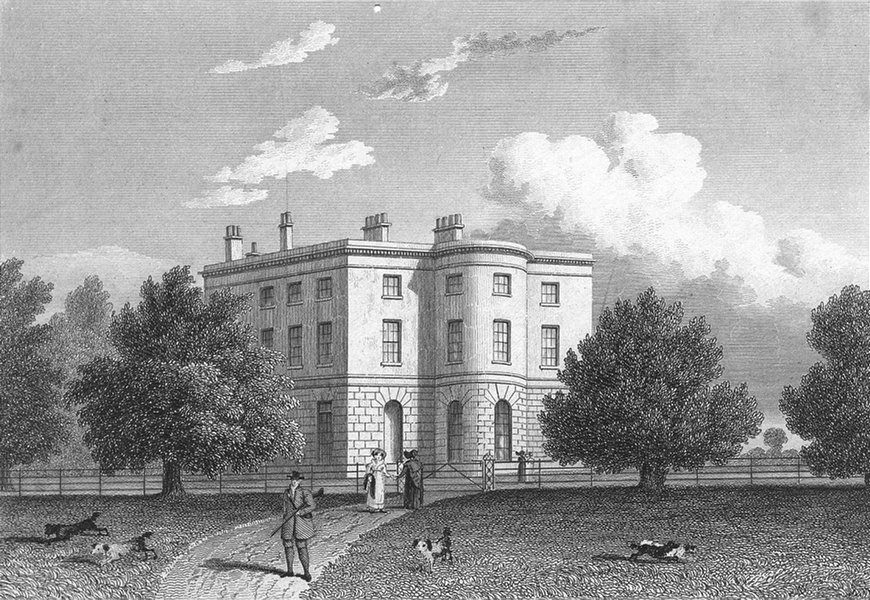 Associate Product LEICS. Whatton House, Leicestershire. Jones 1829 old antique print picture