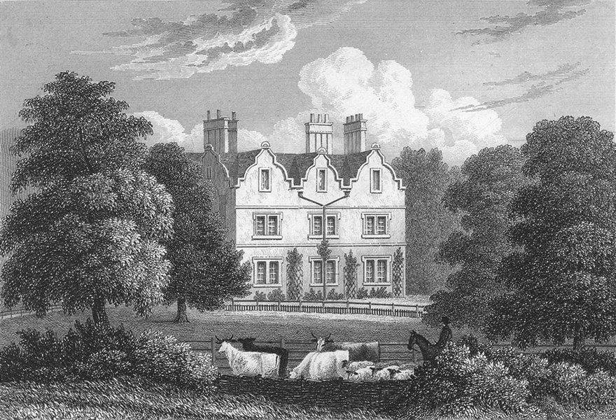 Associate Product LEICS. Carlton Curlieu Hall, Leicestershire. Jones 1829 old antique print