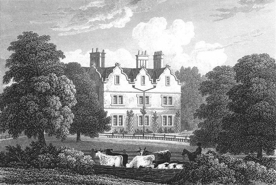 Associate Product LEICS. Carlton Curlieu Hall, Leicestershire. Jones 1826 old antique print