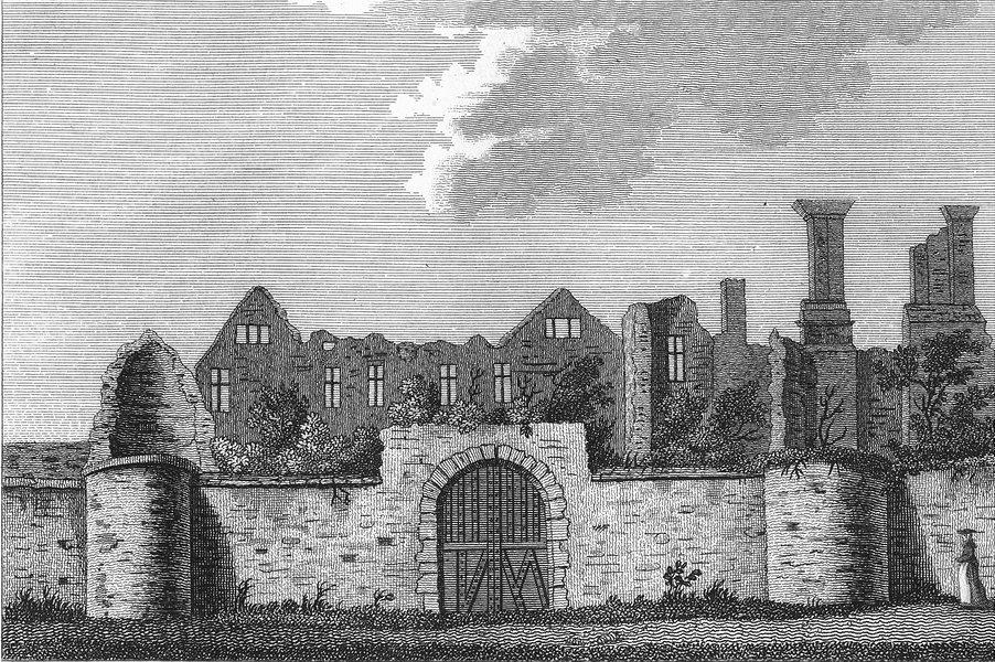 LEICS. Leicester Abbey. Jones 1787 old antique vintage print picture