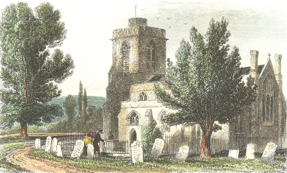 Associate Product LONDON. Hornsey Church, Middlesex. Mddx DUGDALE 1835 old antique print picture