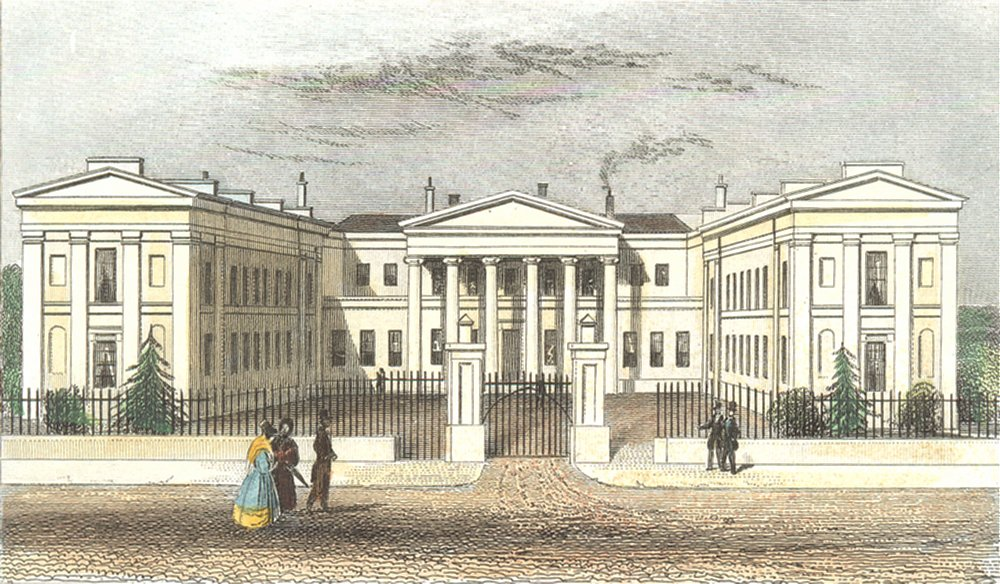 HIGHBURY. College, Islington, Mddx. Mddx 1835 old antique print picture