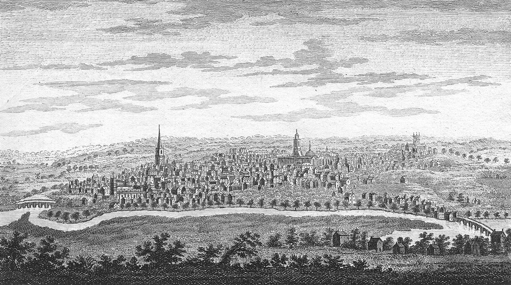 NORTHANTS. SW Northampton in. Goadby 1787 old antique vintage print picture