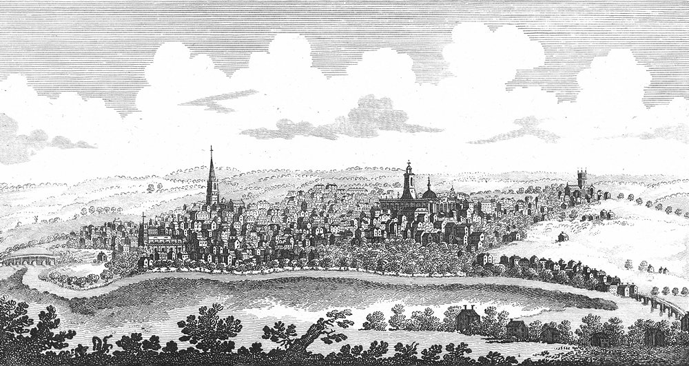 Associate Product NORTHANTS. SW Northampton. Ryland 1764 old antique vintage print picture