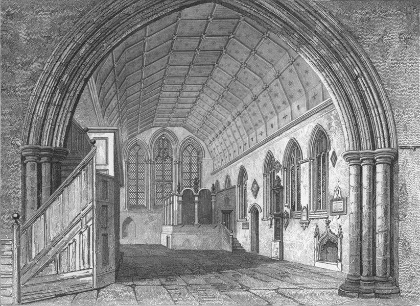 NORFOLK. Yarmouth Church, chancel. Le Keux Churches 1824 old antique print