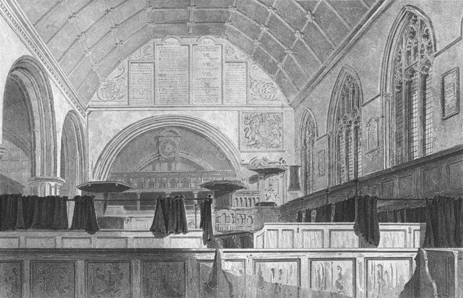 Associate Product NORFOLK. Yarmouth Church, choir. Le Keux Churches 1824 old antique print