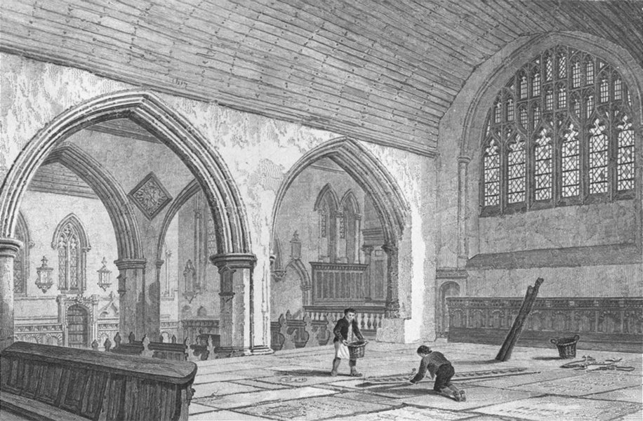 Associate Product NORFOLK. Yarmouth Church, chancel. Le Keux Churches 1824 old antique print