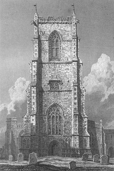 Associate Product NORFOLK. Worstead Church. Le Keux Churches 1824 old antique print picture