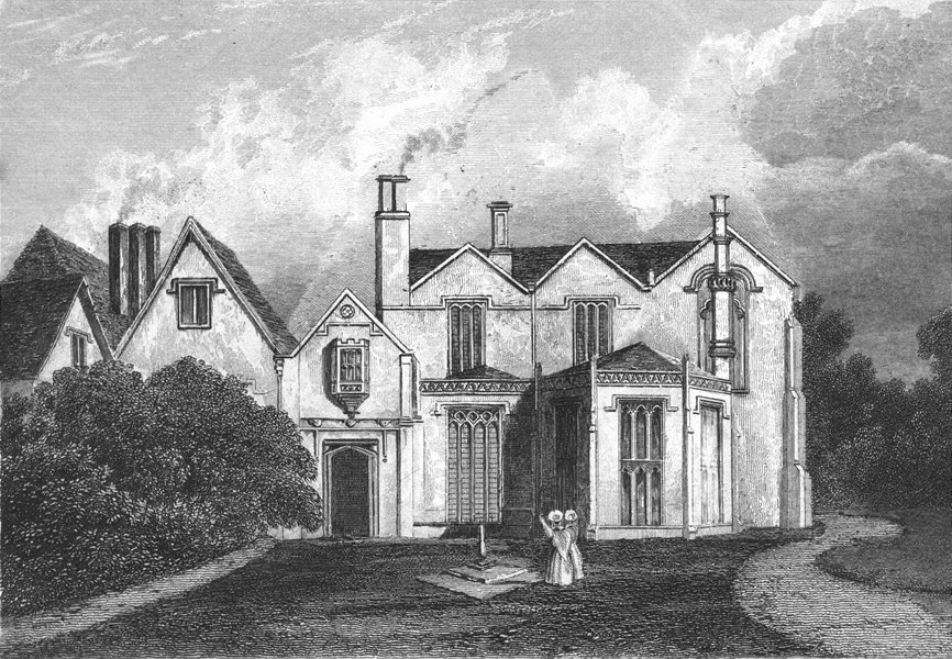 Associate Product LINCS. Scrivelsby Hall. Saunders 1836 old antique vintage print picture