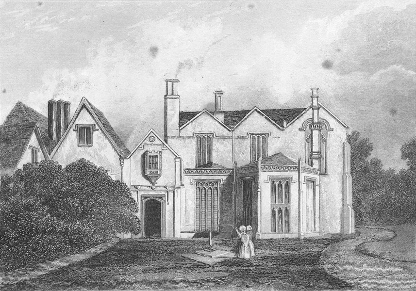 Associate Product LINCS. Scrivelsby Hall. Saunders 2 Female 1836 old antique print picture