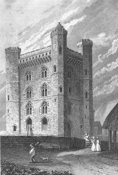 Associate Product LINCS. Tattershall Castle. Saunders 1836 old antique vintage print picture