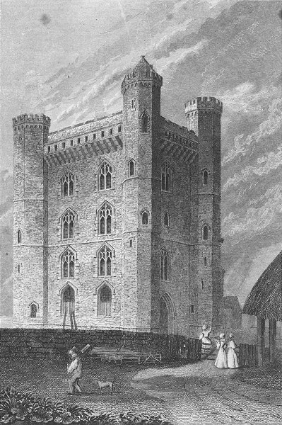 Associate Product LINCS. Tattershall Castle. Saunders Amount Foxing 1836 old antique print