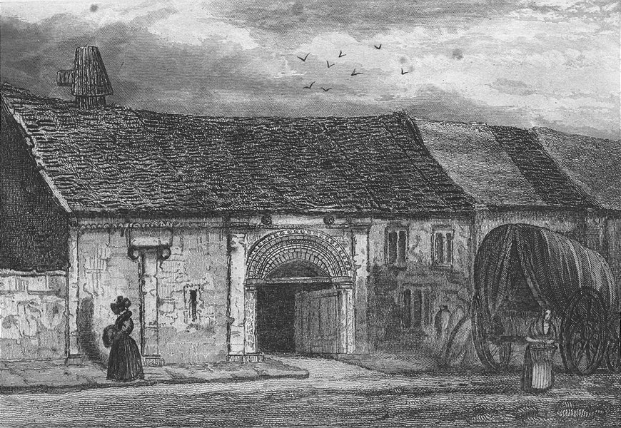 Associate Product LINCOLN. John of Gaunt's Stables. STABLE. Saunders 1836 old antique print