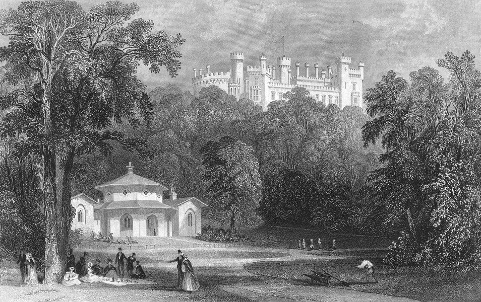 Associate Product LEICS. Belvoir Castle, dairy. Allom 1836 old antique vintage print picture