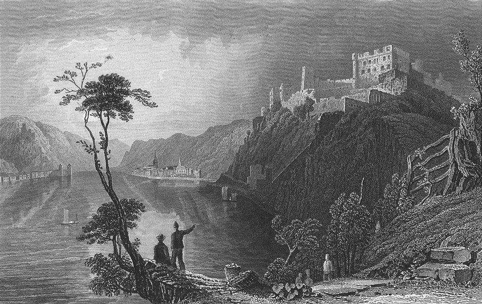 Associate Product ST GOAR. & ruins, Fort Rheinfels. ruins. Tombleson 1840 old antique print