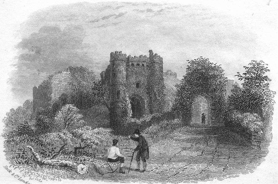Associate Product ISLE OF WIGHT. Carisbrooke Castle. IOW 1860 old antique vintage print picture