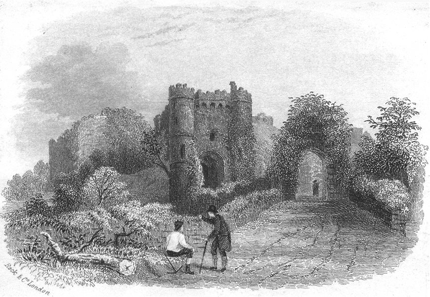 Associate Product ISLE OF WIGHT. Carisbrooke Castle. IOW c1855 old antique vintage print picture
