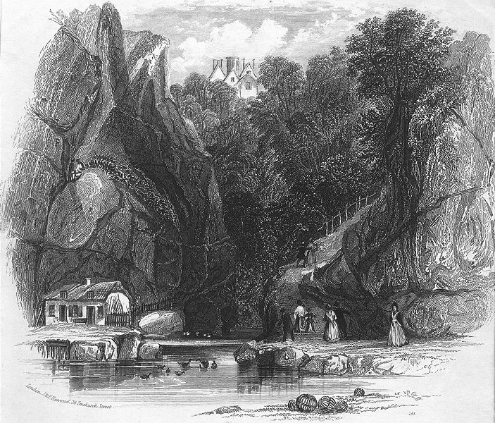 Associate Product IOW. Shanklin Chine 1841 old antique vintage print picture