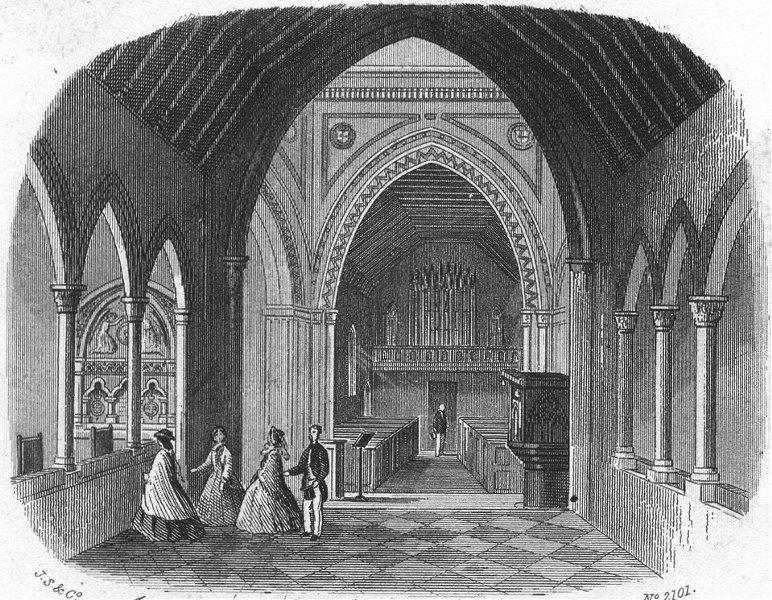 Associate Product IOW. Whippingham Church Albert Memorial c1850 old antique print picture