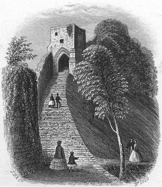 Associate Product ISLE OF WIGHT. Keep, Carisbrooke Castle. IOW c1850 old antique print picture