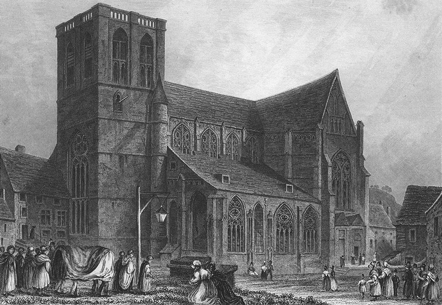 Associate Product BELGIUM. St Martins Church, Liège. Fussell 1840 old antique print picture