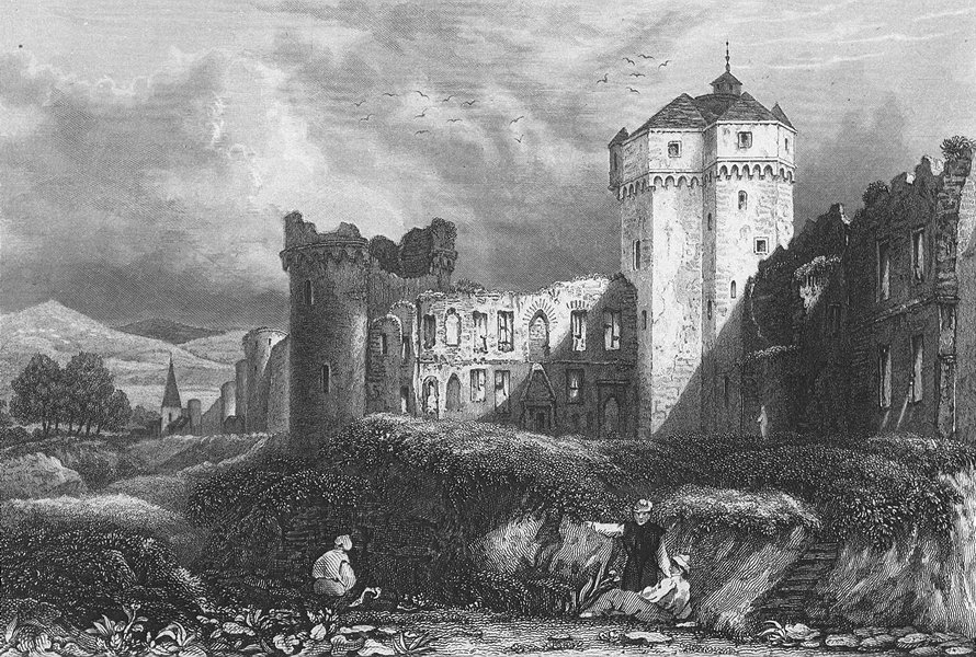 Associate Product GERMANY. Ruins, Andernach. Castle. Shepherd 1840 old antique print picture