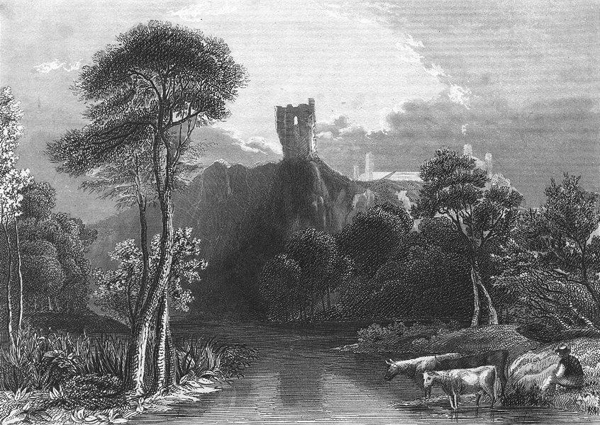 Associate Product BELGIUM. Ruins Schlosses Vier Haimonskinder. Wolff 1844 old antique print